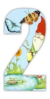 Gnome Wheelie Bin Stickers - numbers Gnome 2