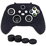 Chin FAI Silicone Skin Grip Cover for Xbox Series X Controller, Anti-Slip Protective Case fits Xbox Series X/S Controller with 4 Thumb Grips (Black)