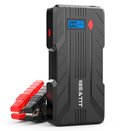 BEATIT QDSP 1200A Peak 16500mAh 12V Portable Car Lithium Jump Starter (up to 8.0L Gas and 6.0L...