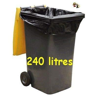 SAC POUBELLE NOIR HAUTE RESISTANCE - 240 litres - carton de 100 sacs