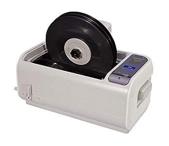 LifeBasis - Limpiador ultrasónico para Discos de Vinilo, 6L CD-4862, Limpiador de baño sónico con Soporte para Discos de plástico, depósito de Acero Inoxidable, Juego de Vasos, Tubo de Drenaje
