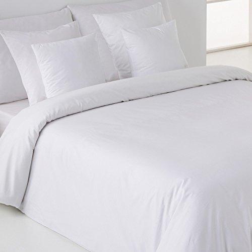 Sedalinne Sábanas HOTELES - Funda Nórdica Calidad 200 Hilos. Percal 50% algodón - 50% poliéster. Cama 90 cm. Color Blanco