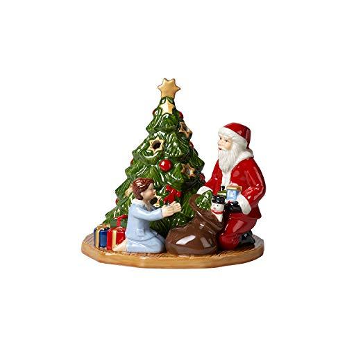 Villeroy & Boch Christmas Toy's Windlicht Bescherung, dekorative Figur aus Hartporzellan, für Teelichter geeignet, Wachs, bunt, 15 x 14 x 14 cm