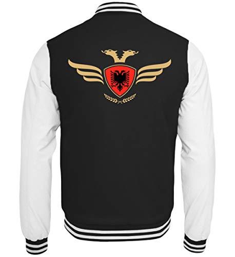 Hochwertige College Sweatjacke - Albanien Fahne Fussball Fanshirt Albania Flagge Albanischer Adler Albanien Wappen