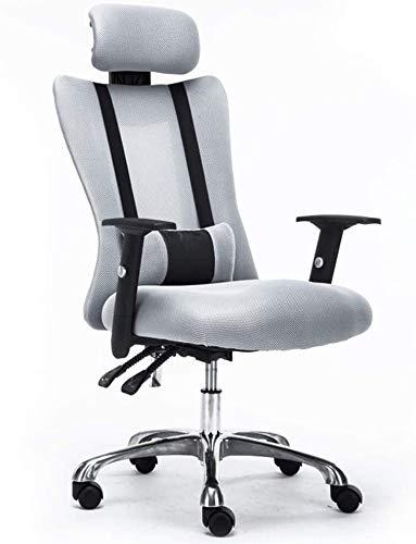 ZXJ Silla del acoplamiento giratorio con respaldo alto Silla de oficina ajustable elevación del respaldo multifuncional apoyo for la cabeza Barandilla Inicio de elevación 150 kg silla silla del jefe c