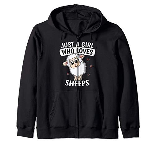 Just A Girl Who Loves Sheeps Pastor Disfraz De Oveja Sudadera con Capucha