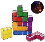 HIGHKAS Tetris Lampe Lampe stapelbar Led Tischleuchte Stimmungslicht Retro Tetris Lampe Nachtlicht...