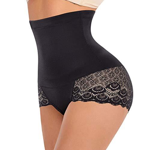 Gotoly Intimo Donna Shapewear Mutande Contenitive Body Shaper Panty A Vita Alta per Controllo Ventre (M, Nero)