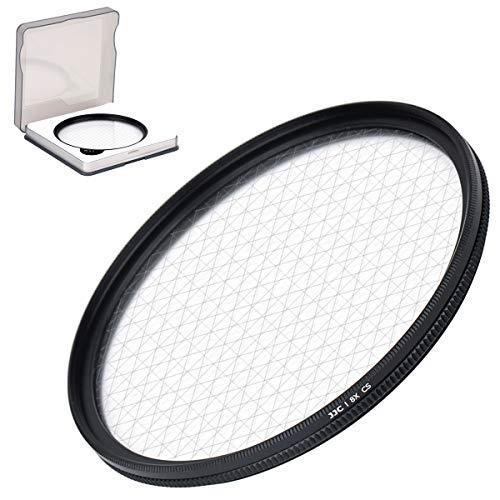 JJC 62 mm 8-Punkt-Sternfilter mit Schutzhülle für Canon, Nikon, Pentax, Olympus, Sony, Panasonic, Fujifilm DSLR-Kamera, optische Glaslinsenfilter mit Rahmen aus Aluminiumlegierung