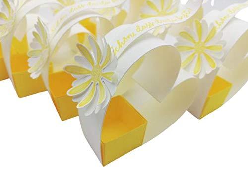 Herz mit kleiner Schachtel, 10 Stück, als Gastgeschenk für Hochzeiten, Geburtstage, Taufen und Festlichkeiten