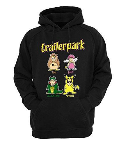Trailerpark Hoody Comic, Farbe:schwarz, Größe:S