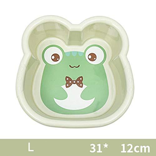 Hot 1PC wastafel plastic schoteltje leuk cartoonbad wassen badkuip pasgeborenen kind gezicht wassen voeten badkuip baby-washtub 10300E, L-groen