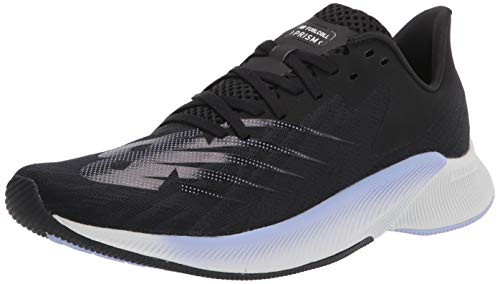 New Balance Women's FuelCell Prism V1 Running Shoe, Black/White/Lime, 8.5