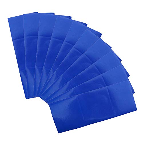 OTOTEC 10x Bleu Bande de Réparation Étanche Patch Bandes Toile Tente Auvent Butin Voile Cerf-Volant