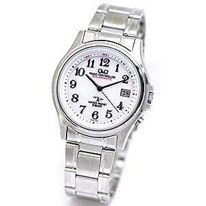 [シチズン Q&Q] 腕時計 電波腕時計 ソーラー 電波ソーラー Q&Q HG00-800 ホワイト