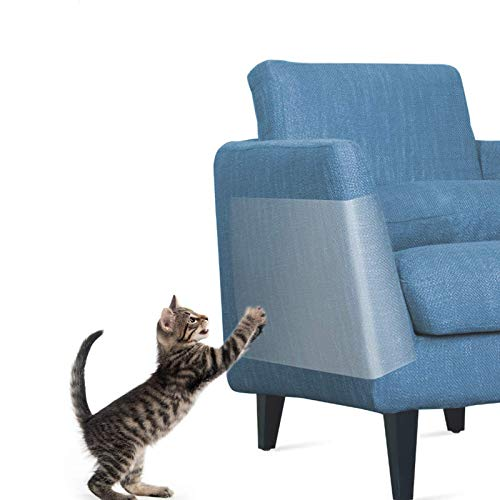 Protector de Muebles Sofa Gatos, OneSight 30CM X 40CM Rascador para Gatos Transparente Autoadhesivas contra Arañazos de Gato Protector para Proteger Sus Muebles Tapizados(8 piezas)