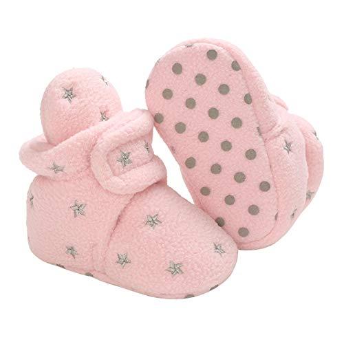 Botines de bebé suaves con suela antideslizante para bebés de 0 a 18 meses, B2, 6-12 meses