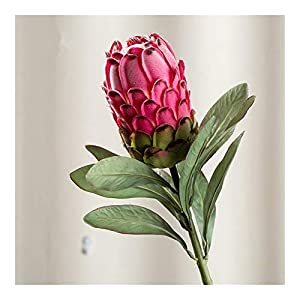 JiaQinHe Remains Large Artificial Protea Cynaroides Silk+Plastic Flowers for Wedding Decorations Wreath Fake Plants Flores Artificiales Never (Color : Red)