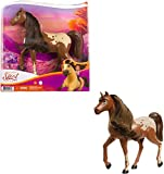 Spirit Untamed Herd Horse (Approx. 8-in), Moving Head, Chestnut Pinto with Long Black Mane & Playful Stance, Great Gift for Horse Fans Ages 3 Years Old & Up