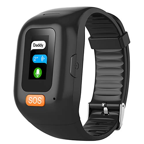 CESSBO Waterproof IP67 GPS Intelligentes Armband GPS Bracelet Heart Rate Monitor Anti-Lost GPS+LBS+WiFi Senioren SOS-Notruf Armband Mit Geo Fence Alarmfunktion Sprachchat Herzfrequenz Blutmonitor