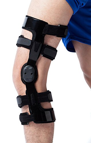 Orthomen Functional Knee Brace for ACL/PCL/Sports Injuries, After Reconstructive Surgery (XL-Left)