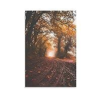 樹木植物風景ポスターポスター装飾画キャンバスウォールアートリビングルームポスター寝室寮絵画24×36インチ(60×90cm)