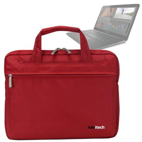 Navitech Rotes Case/Cover/Tasche für Laptops/Notebooks & Tablet PC's für das Dell Precision M3800