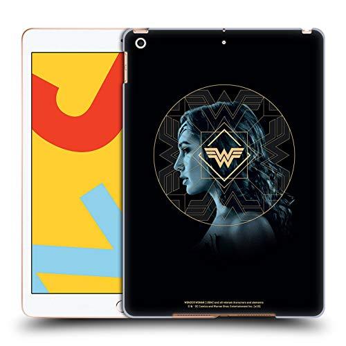 Official Wonder Woman 1984 Gold Portrait Logo Art Hard Back Case Compatible for Apple iPad 10.2 (2019)