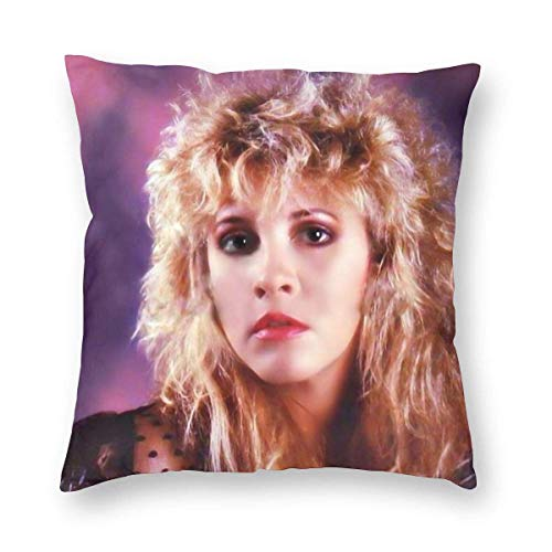 YZBEDSET Velvet Soft Euro Home Decor Square Throw Pillow Covers Set Housewarming Gifts, Best I Love The 1980s Dance Stevie Nicks Rock Girl Hypoallergenic Cushion Case for Outdoor Bedroom