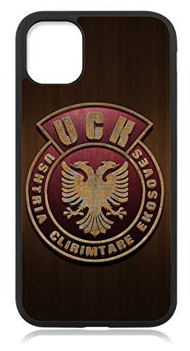 Kompatibel mit iPhone 12 PRO MAX Hülle Silikon, Handyhülle für iPhone 12 PRO MAX Schutzhülle Slim Case Cover Albanien Adler Fahne Flagge