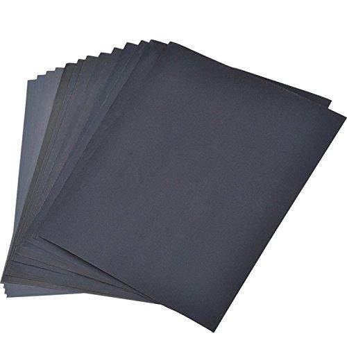 60 Pièces Velcro-pierres 105 x152 mm Papier abrasif multi Meuleuse priorité Mix