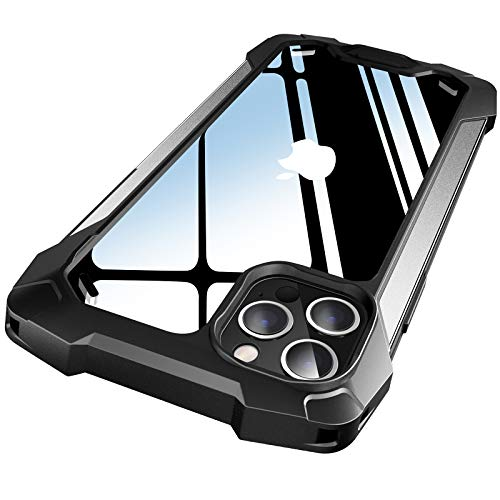PILIPAPA Designed for iPhone 12 Pro Max Case, Rugged Military Grade Drop Tested Shockproof Cover with Explosion-Proof Screen Protector, Lightweight Protective PC Case (6.7 inch, Silver)