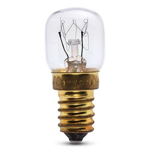 Lampe de réfrigérerateur 15W pour usage dans un frigo Siemens. 240v. Ampoule à SES (E14) petit vis Edison