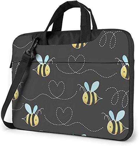 Bumble Bees Print Laptop Bag Shockproof Briefcase Shoulder Bags Carrying Case Laptop Briefcase 14 inch