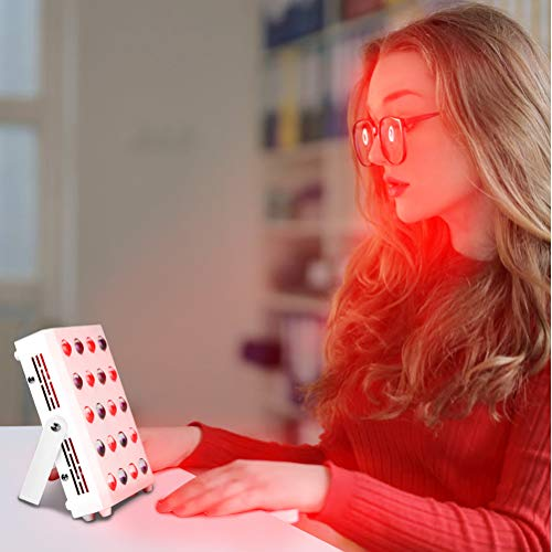 Nlight Infrarotlampe Rotlicht-Therapielampe Zur Licht Von Hautschmerzen,Gesicht Körper Infrarot-Physiotherapielampe,Rot 660Nm Nahinfrarot 850Nm Lampe 30Leds Lichttherapie-Lampe