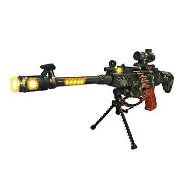 LilPals Special 25 Inch Rapid Fire Machine Gun Toy – With Dazzling Light Remarkable Sound & Amazing Machine Gun Live Action