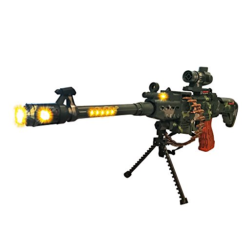 LilPals Special 25 Inch Rapid Fire Machine Gun Toy – With Dazzling Light, Remarkable Sound & Amazing Machine Gun Live Action