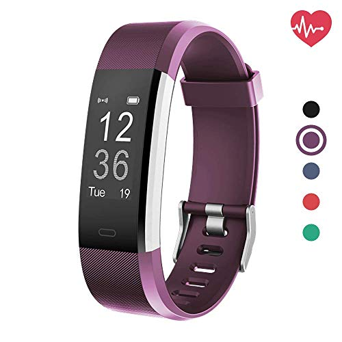 Fitness Tracker HR, Activity Tracker with Heart Rate Monitor Watch, IP67 Waterproof Smart Wristband with Calorie Counter Watch Pedometer Sleep Monitor for Kids Women Men (Purple)