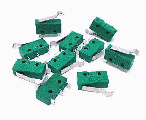 Honbay 10pcs KW4-3Z-3 AC 125V 5A Micro Limit Switch Hinge Lever for Mill CNC