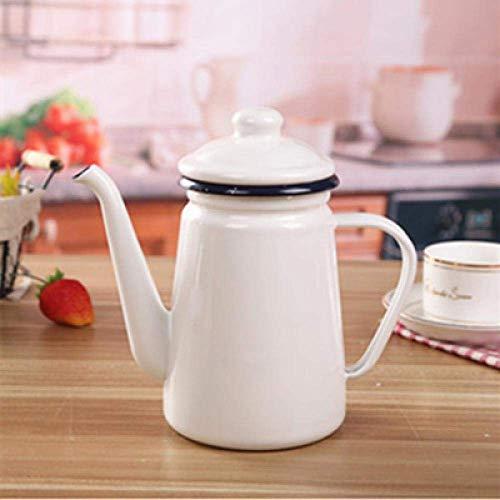 ZLININ Y-longhair Hervidor en la estufa 1 1L cafetera esmaltada Té de mano Hervidor de agua Cocina de inducción Estufa de gas universal