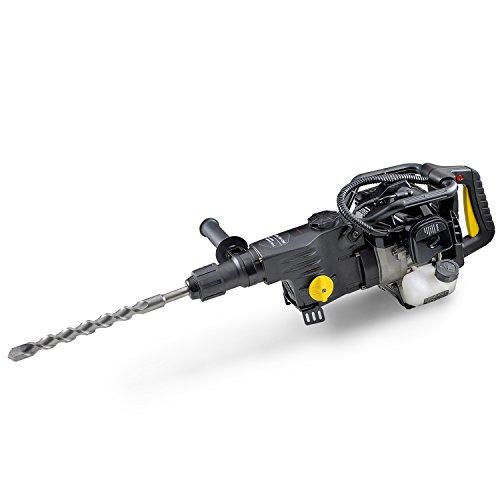 EBERTH 1,2 kW Benzin Schlagbohrer (2-Takt Benzinmotor, 1700 Nm Drehmoment, Bohr- und Schlagbohr-Funktion)