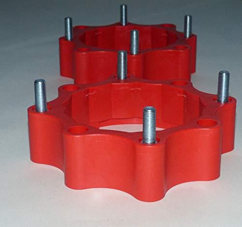 Spurverbreiterungen Quad ATV 110 mm - 115 mm Lochkreis hinten und vorne rot