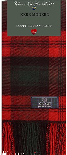 I Luv LTD Kerr Modern Tartan Clan Scarf 100% Soft Lambswool