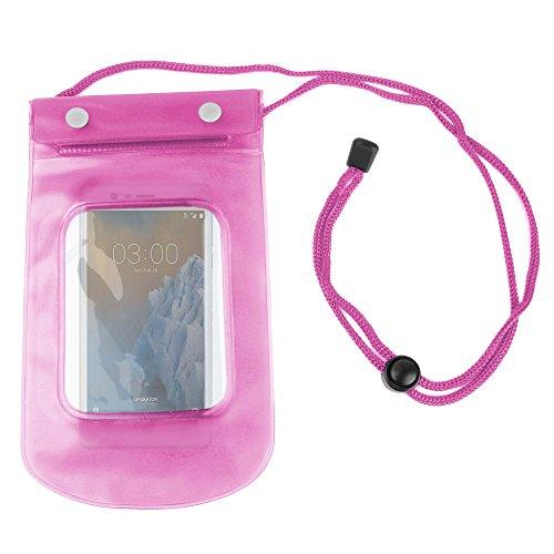 DURAGADGET Funda Impermeable Rosa para Smartphone Blackberry Q10 PRD-53409-001, Nokia 3 TA-1032 DS ES PT - Ideal para Ddiferentes Actividades Al Aire Libre