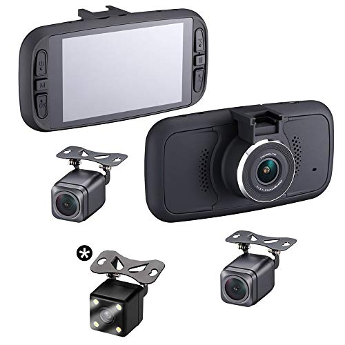 Top Dawg TDEAGLEEYE4 EagleEye4: 3 Cam GPS Dash Cam System with 4 Inch LCD, 1 Power Source and Optional 4th Camera