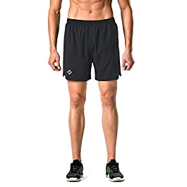 Naviskin Men's 5″ Quick Dry Running Shorts Workout...
