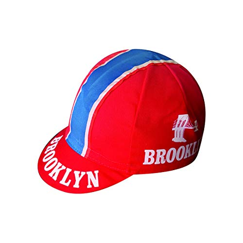 Vintage - Brooklyn Anti Sweat Cotton Cycling Cap (Red)