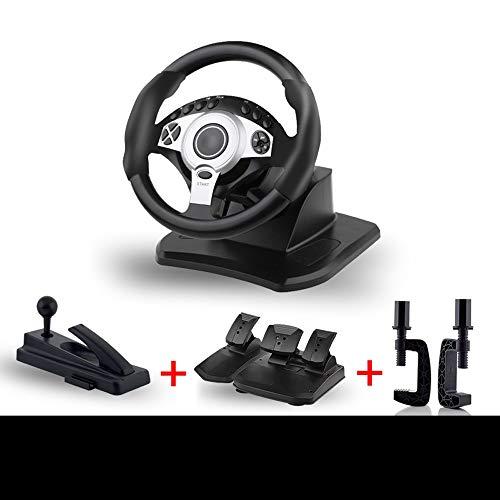 WSMLA Pro Drive Sport Racing Wheel for 4 PS4 Slim PS4 et PS3 Computer Jeu de Course au Volant Simulation Conducteur de véhicule PS4 2 Apprentissage Voiture Convient for Une variété d'accessoires Jeu