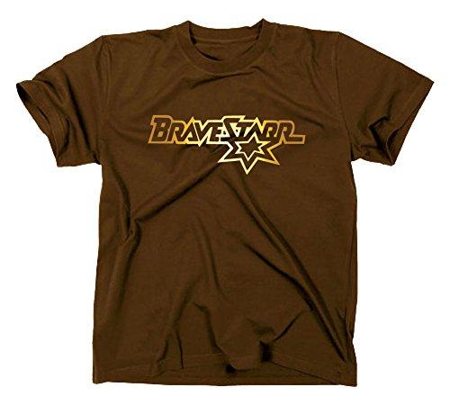 #2 Bravestarr Logo T-Shirt, XXL, braun