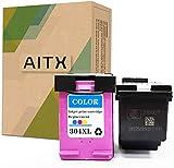 AITX Cartucho de Tinta Remanufacturado con HP 304XL Negro y Color, Envy 5010 5020 5032 5055 Deskjet 2600 2620 2622 2632 3720 3750 AMP 130 Impresora 304 XL Cartuchos, 2-Paquete